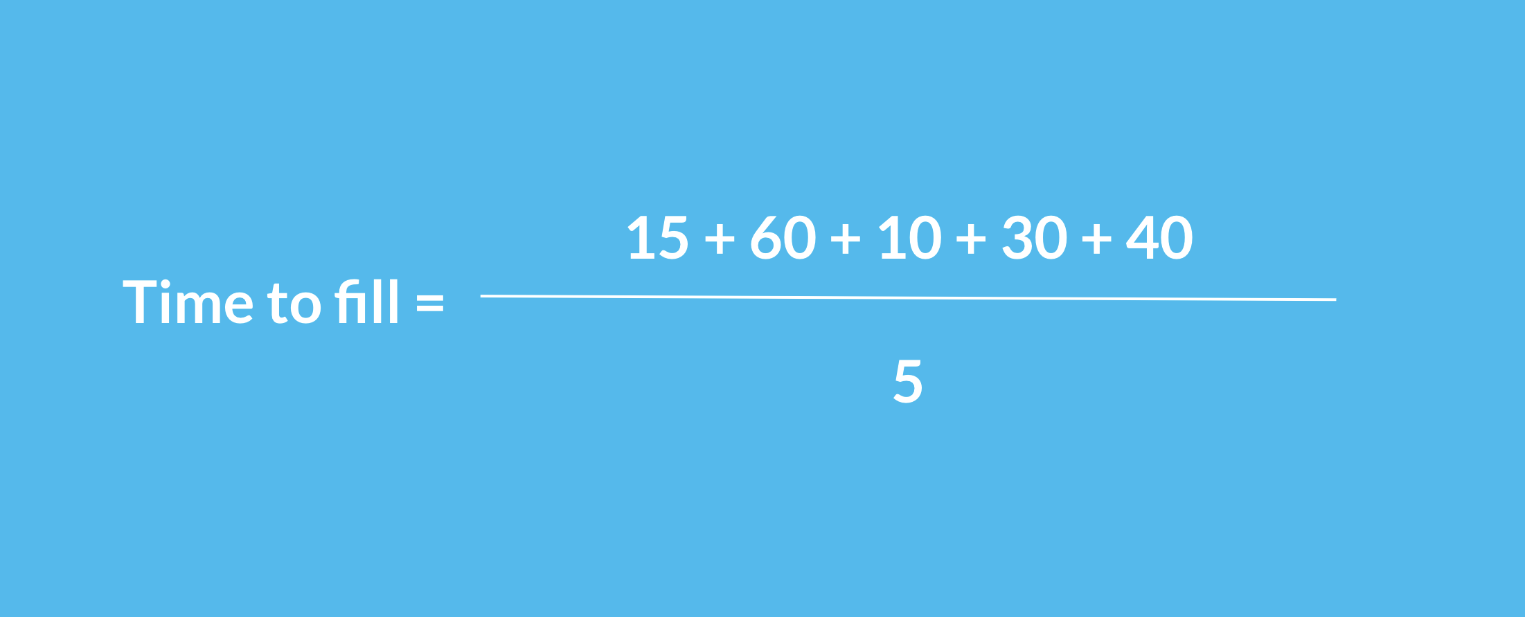 Average TIme to Fill Calculation Example